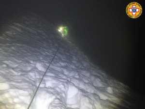 Il soccorso alpino recupera due scialpinisti bloccati a Forcella Staunies