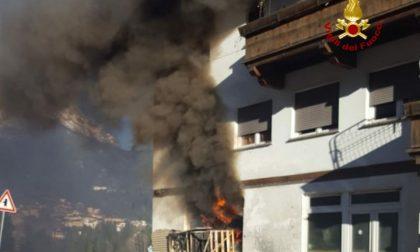Lozzo di Cadore: si incendia magazzino, attimi di paura per un gruppo di cinesi