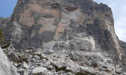 Frana sul monte Civetta: cancellate alcune vie storiche