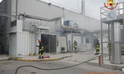 Maserot di Santa Giustina, i Vigili del Fuoco domano le fiamme ad un impianto per la produzione di corrente elettrica