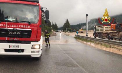 Statale Alemagna Cortina, la frana fa chiudere la strada – VIDEO