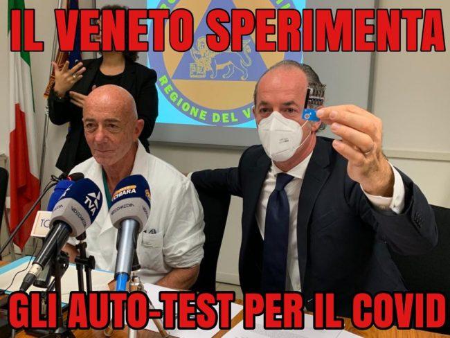 """Covid, Zaia: """"Presentato il test fai da te""""   +1966 positivi in Veneto   Dati 16 novembre 2020"""
