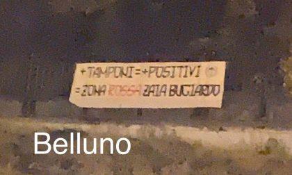 """Forza Nuova, striscioni anche a Belluno contro il pericolo zona rossa: """"Zaia bugiardo"""""""