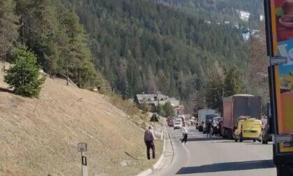 Incidente tra Cortina e San Vito di Cadore: auto contro una moto, ferito un 55enne