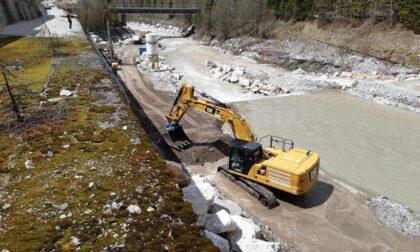 Dissesto idrogeologico: proseguono i lavori sul Piave in Comelico