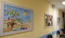 L'ospedale di Feltre si colora con i disegni degli ospiti dei Centri Diurni creati durante la pandemia