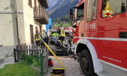 Le foto degli incidenti a Ponte nelle Alpi e Auronzo di Cadore