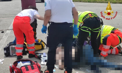 Incidente a Mel: scontro tra un furgoncino e un'Ape car, un ferito