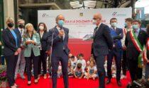 Le foto e il video dell'inaugurazione della nuova linea elettrificata Conegliano – Belluno