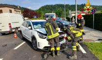 Incidente a Sedico: scontro frontale tra due auto, quattro feriti