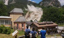 Il video dell'esplosione controllata della Frana di Busa del Cristo