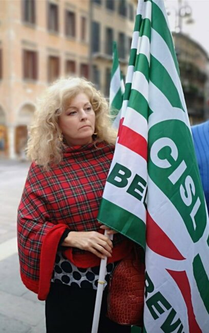 Gabriella Cont, la Segretaria Organizzativa dei Pensionati della Cisl di Belluno e Treviso