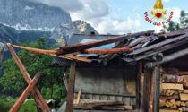 Maltempo nel Bellunese: pali pericolanti, alberi caduti e tetti danneggiati