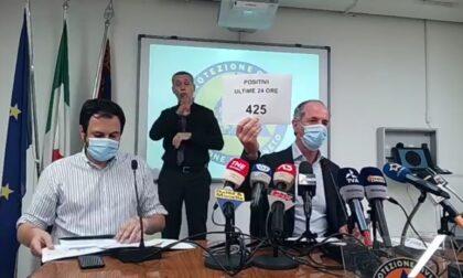 """Zaia: """"Dalla mezzanotte stop ai tamponi gratis, disponibili un milione di vaccini""""  +425 positivi Covid  Dati 9 agosto 2021"""