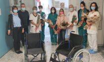 Donano 6 carrozzine alla dialisi di Feltre in ricordo della cara mamma