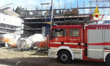 Incendio in una palazzina in ristrutturazione a Cortina d'Ampezzo