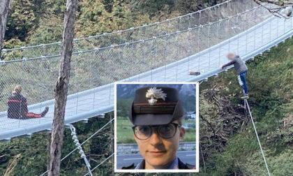 Vuole gettarsi dal ponte, madre di tre figli salvata dal carabiniere Martina